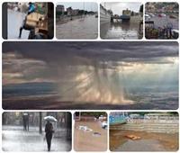 أمطار وعواصف رعدية.. الطقس السيئ يضرب بعض محافظات الجمهورية
