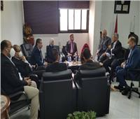 مجلس إدارة هيئة الاعتماد والرقابة يلتقي رئيس جامعة قناة السويس