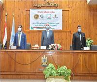 محافظ أسيوط يشهد حفل تسديد رسوم التصالح في مخالفات البناء لـ 56 أسرة
