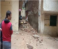 انهيار سور بسبب الأمطار في الإسكندرية | صور
