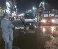 رئيس حي شرق شبرا الخيمة يوجه بمتابعة أعمال شفط الأمطار