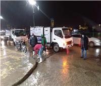 «مياه دمياط» تتابع عمليات سحب تجمعات الأمطار