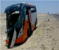 إصابة 24 عاملا في انقلاب أتوبيس بطريق برج العرب