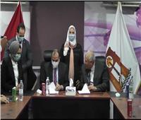وزيرة التضامن تشهد توقيع بروتوكول تعاون مع جامعة بني سويف