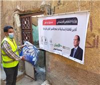 توزيع مساعدات قافلة تحيا مصر على الأسر الأكثر إحتياجاً في أسوان
