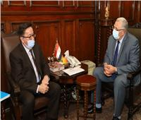 وزير الزراعة يبحث مع سفير كازاخستان التعاون بين البلدين
