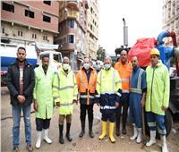 «ممدوح رسلان» يتفقد شوارع الإسكندرية للتأكد من سحب مياه الأمطار