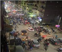 «الصعايدة الأهلاوية»يحتفلون على طريقتهم الخاصة .. وقوات الأمن تتدخل