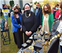 وزيرة التجارة والصناعة تفتتح معرض «صنع في مصر»