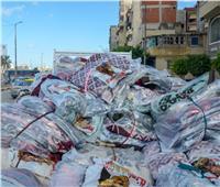 صور|مساعدات عاجلة لـ 150 أسرة من متضرري الأمطار بالإسكندرية