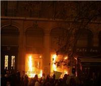 متظاهرون يحرقون بنك فرنسا وأحد المقاهي في ساحة الباستيل وسط باريس