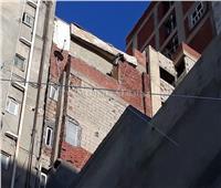 انهيار جزئي بعقار في الإسكندرية
