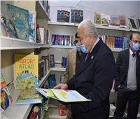 افتتاح معرض الكتاب الثالث بجامعة السادات