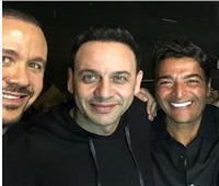 فيديو| مصطفى قمر وهشام عباس يحتفلان بعيد ميلاد حميد الشاعري