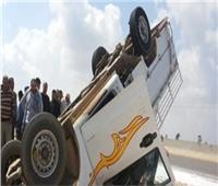 مصرع وإصابة 14 في انقلاب سيارة بأسوان
