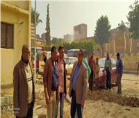 رئيس حي المطرية يتابع أعمال تطوير شجرة مريم لإحياء مسار العائلة المقدسة