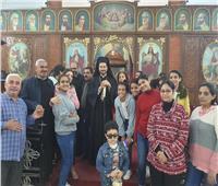 االأنبا باخوم في زيارة رعوية لكاتدرائية السيدة العذراء بقويسنا