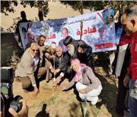 غرس شجرة بدير الشايب دعمًا لمبادرة «هنجملها»