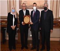 رئيس جامعة عين شمس يستقبل وزير الخارجية الأسبق بقصر الزعفران