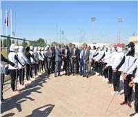 رئيس جامعة أسوان والمحافظ يضعان حجر الأساس للمنشآت الرياضية بصحاري