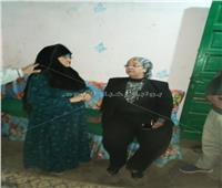 «تضامن بني سويف» يشكل لجنة لمعاينة منزل سيدة المطر وصرف إعانة شهرية لها