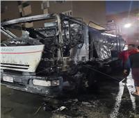إنقاذ مركز الغنايم بأسيوط بعد اشتعال النار في سيارة مواد بترولية
