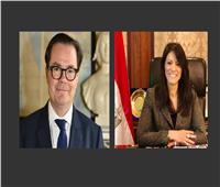 وزيرة التعاون الدولي والسفير الفرنسي يبحثان تعزيز العلاقات الاقتصادية