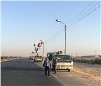 محافظ المنيا يوجه رؤساء المراكز بإنارة الطريق الصحراوي الشرقي
