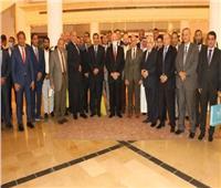 محافظ جنوب سيناء يلتقي بوفد الدارسين بكلية الدفاع الوطنى