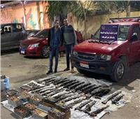 ضبط ٤٩ بندقية آلية و٥ طبنجات و٢٠ ألف طلقة بأسيوط