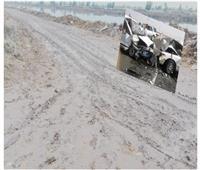 «طريق الموت» بحر البقر جنوب بورسعيد يحصد أرواح عمال الاستثمار.. صور
