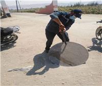 حملة تطهير لغرف وشبكات الصرف الصحي بأسيوط