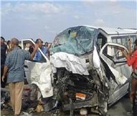 إصابة 16 شخصا في حادث انقلاب سيارة بالمنيا