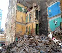 انهيار جزئي بعقار في المنيا دون أضرار بشرية
