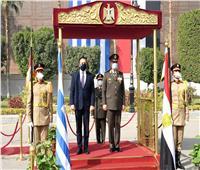وزير الدفاع يلتقي نظيره اليوناني خلال زيارته الرسمية لمصر