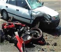 إصابة اثنين في تصادم دراجة بخارية وسيارة بنجع حمادي