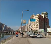 محافظ الغربية يتابع استكمال أعمال الإنارة اليومية بالمدن والقرى