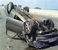 إصابة طالبتين في حادث انقلاب سيارة ملاكي بالمنيا 