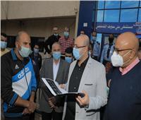 محافظ بني سويف يطمئن على الحالة الصحيةلمديرة مستشفى ناصر