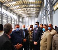 وزير قطاع الأعمال يتفقد تطوير محلج القطن بالزقازيق| صور