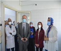 نائب محافظ الإسكندرية تفتتح العناية وحدة المركزة بالحميات