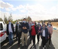 تطوير طريق النفق لخدمة قري شباب الخريجين بالسويس