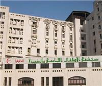 حريق هائل في مستشفى أبو الريش للأطفال.. والدفع بـ7 سيارات إطفاء