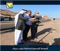 محافظ جنوب سيناء يتفقد موقع إنشاء ميناء اليخوت بمدينة دهب