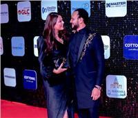 أحمد خالد صالح وهنادي مهنا يخطفان الأنظار بعد الزواج| فيديو