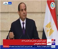 الرئيس السيسي:مصر دفعت ثمنا باهظا فى مواجهة الإرهاب