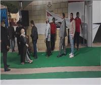 توافد المواطنين على اللجان الانتخابية بمدرسة حجاج مناع بمصر الجديدة.. صور