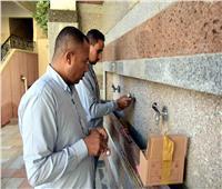 تركيب 4500 قطع موفرة للمياه بدور العبادة الأهلية بسوهاج
