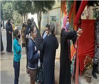 زحام السيدات للإدلاء بأصواتهم بانتخابات النواب فى حلوان | صور