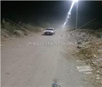 إنارة طريق «مصمص الخور» بأسوان